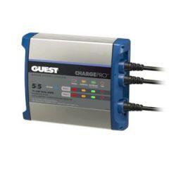 Battery Charger 10A 12V 2-Bank 120V Input