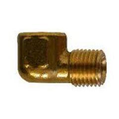 "Street Elbow Forged Brass 90 Degree NPTF x NPTM 3/8"" x 1/4"""