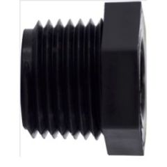 "Bushing HEX Head NPTM x NPTF Polyethylene Black 1-1/2"" x 3/4"""