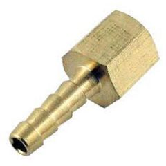 "Connector NPTF x Barb Brass 1/4"" x 5/16"""
