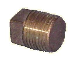 Plug Solid Square Head NPTM Bronze 2""