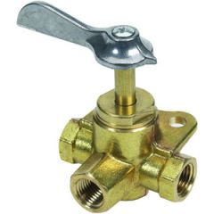 Fuel Shut-Off Valve w/Solid Bottom Brass 1/4""