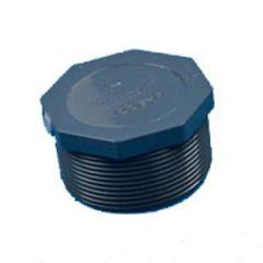 "Plug HEX Head NPTM Nylon White 1 1/2"""
