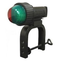 Bow LED Compact Navigation Light, Bi-Color w/C-Clamp & Suction Cup Mounts