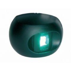 Starboard LED Navigation Light Series 34 Green Side Mount Black Housing