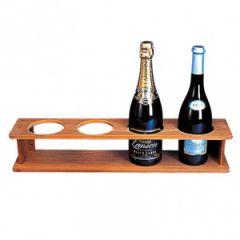 Bottle Holder Teak Four Bottles 56 cm x 11.5 cm x 10.5 cm