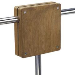 "Outboard Motor Bracket Rail Mount Teak 25 mm (1"") Rail"