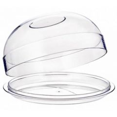 25CM Polycarbonate Salad Bowl w/Blue Lid