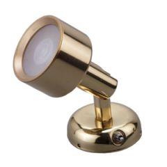 LED Mini Reading Light Warm White Brass 3W