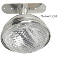 Halogen Spreader Light White Stainless Steel Swivel Mount 12V