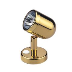 LED Reading Light Warm White Lacquered Brass 12V
