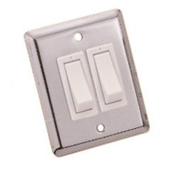 Wall Switch S/S 50.8 x 63.5MM Double