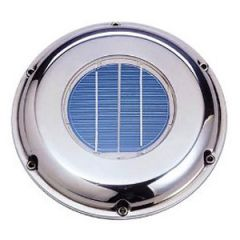 Solar Powered Ventilator Fan White Deck Mount