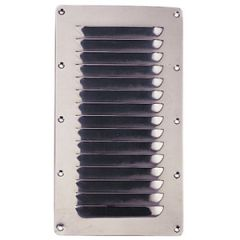 Louvered Vent Stainless Steel 228.6 mm x 127 mm