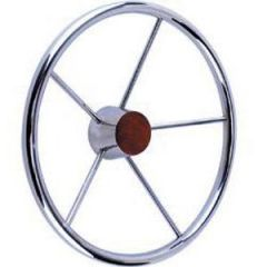 "Steering Wheel Stainless Steel Five Spoke 15 1/2"""
