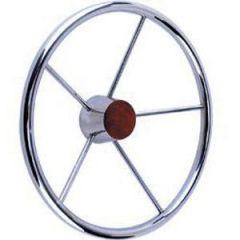"Steering Wheel Stainless Steel Five Spoke 13 1/2"""
