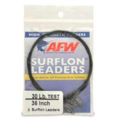 "Surflon Leader 30 lb, 36"" Stainless Steel 3-Pack"