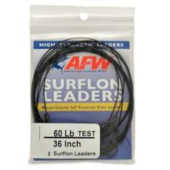 "Surflon Leader 60 lb, 36"" Stainless Steel 3-Pack"