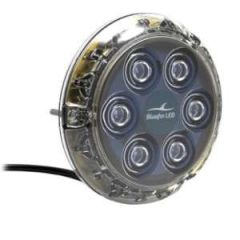 12v White LED Underwater Light, Piranha P6N Surface Mount