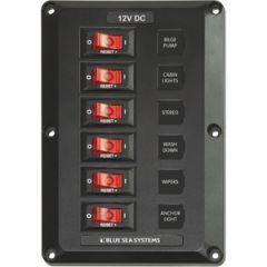 BelowDeck Circuit Breaker Panel 6 Position 12V