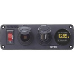 BelowDeck Panel 12vdc Socket , USB And Voltmeter