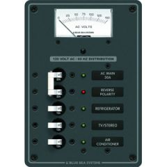Traditional Panel AC w/AC Voltmeter, Main & 3 Positions 12V