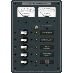 DC Panel w/Ammeters 5 Position 12V