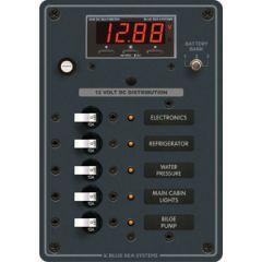 DC Panel 5 Position w/Disgital Meter 12V DC