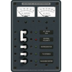 AC Panel Main plus 3 positions 2 Analogue Meters 120V AC