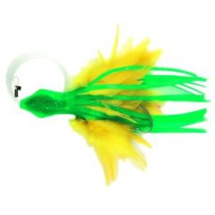 "Dolphin Delight Grn/Yel 6"" 1-1/2oz Rig 135lb Wire 7/0 HK"