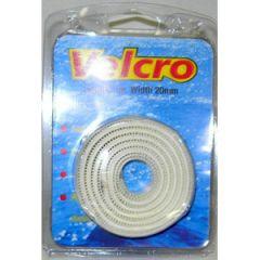 VelcroTape Hook & Loop Self Adhesive White 20 mm x 1 m