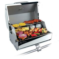 Gas Grill 216 Elite, Stainless Steel, w/Removable Warming Rack & Thermometer