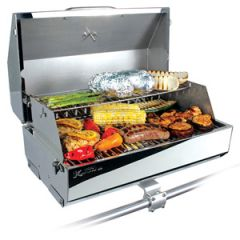Gas Grill 316 Elite, Stainless Steel, w/Removable Warming Rack & Thermometer