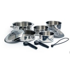 10-Piece Nesting Stainless Steel Cookware