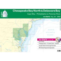 Chesapeake Bay North & Delware Bay Chart Reg. 5.1 w/Pilot Book, CD & App