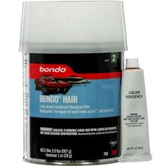 Bondo Hair Fiberglass Reinforced Filler w/Red Cream Hardener Tub 1 qt