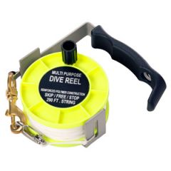 Aluminium Divers Reel w/250 ft 2 mm Line