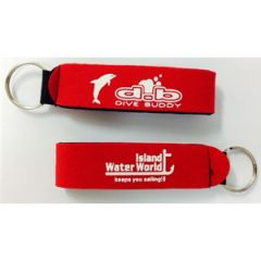 Neoprene Wrist/Key Holder Red & White