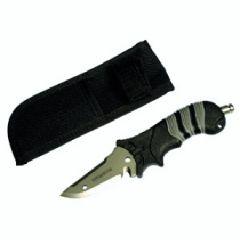 """Titanium Diving Knife Black 3"""" Blade"""