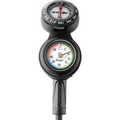 Mini C3 Gauge Console Depth Pressure & Compass