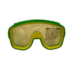 Mini Pro Mask Single Window Design w/Clear Silicone Skirt Lime/Yellow