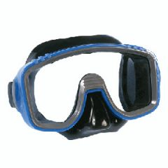 Rental Junior Mask Single Window Design w/Black Silicone Skirt Blue