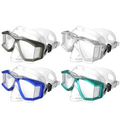 Panoramic Mask w/Multi Lens & Clear Silicone Skirt Blue