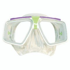 Hawaii Mask w/Clear Silicone Skirt White & Lime