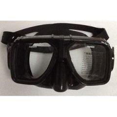 Rental Mask Two Window Design w/Black Silicone Skirt Black