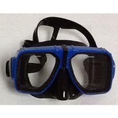 Rental Mask Two Window Design w/Black Silicone Skirt Blue