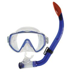 Mask & Snorkel Explorer Junior Combo w/Purge Valve Transparent Blue