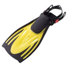 Swim Fins Open Heel Kids Yellow LRG/XLRG
