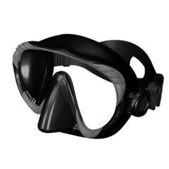 Frameless Mask Single Lens & Black Silicone Skirt w/o Frame Grey w/Case