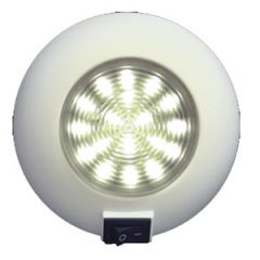"4"" Surface Mount Dome Light, 12v w/18 x LED Warm White w/Switch"